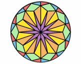 Coloring page Mandala 42 painted byfawnamama
