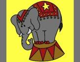 Coloring page Performing elephant painted byCherokeeGl