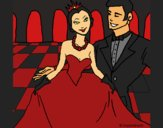 Coloring page Prince and princess at the dance painted byCherokeeGl