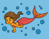 Coloring page Sea Mermaid painted byCherokeeGl