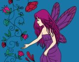 Coloring page Sylph painted byCarapherne