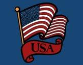 Coloring page U.S. Flag painted byCherokeeGl