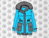 Coloring page Winter coat painted byAnia