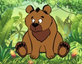 Coloring page Brown bear painted byAnia