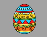 Coloring page Decorated Easter egg painted byAnia