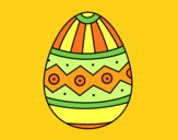 Coloring page Easter egg stamping painted byAnia