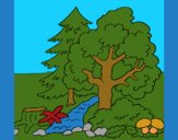 Coloring page Forest painted byCherokeeGl