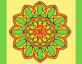 Coloring page Mandala 3 painted byAnia
