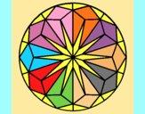 Coloring page Mandala 41 painted byAnia