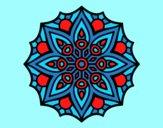 Coloring page Mandala simple symmetry  painted byAnia