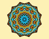 Coloring page Mandala with stratum painted byAnia
