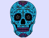 Coloring page Mexican skull painted byMaddi