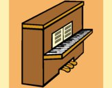 Coloring page Piano painted byAnia