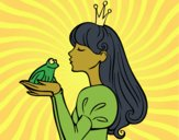 Coloring page The Princess and the Frog painted bymcmd9