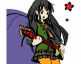 Coloring page Akiyama painted byKhaos