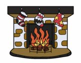 Coloring page Christmas chimney painted byKhaos
