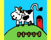 Coloring page Happy cow painted byYori