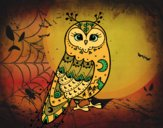 Coloring page Winter Barn owl painted byKhaos