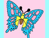 Coloring page Butterfly 2a painted byAnia