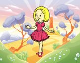 Girl with princess dress