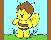 Coloring page Little bee painted byAnia