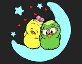 Coloring page Love birds painted byAnia