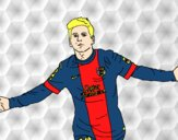 Coloring page Messi painted bykian