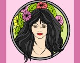 Coloring page Princess of the forest 2 painted byAnia