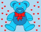 Coloring page Teddy bear painted byAnia