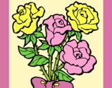 Coloring page Bunch of roses painted byAnia