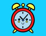 Coloring page Wind up alarm clock painted byAnia