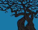 Coloring page Tree ghostly painted byHanna