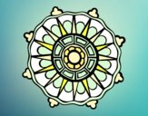 Mandala with sun rays