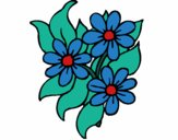 Coloring page Little flowers painted byKhaos