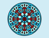 Coloring page Mandala crop circle painted byAnia