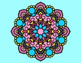 Coloring page Mandala meeting painted byAnia