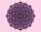 Coloring page Mandala simple symmetry  painted byAnia