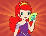 Princess and Hand fan