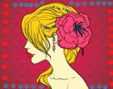 Flower wedding hairstyle