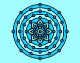 Coloring page Mandala solar system painted byAnia