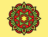 Coloring page Mandala vegetal life painted byAnia