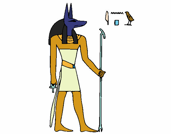 Coloring page Anubis painted byAnnanymas
