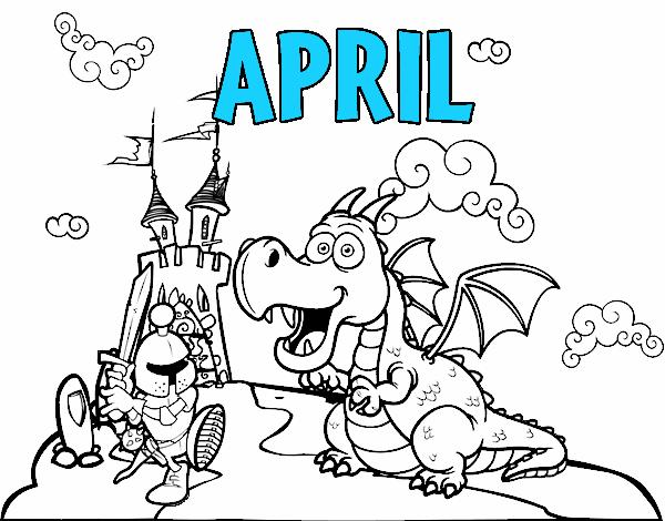 Coloring page April painted byAryanLove