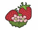 Coloring page Big strawberries painted byAnnanymas