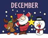 Coloring page December painted byAnnanymas