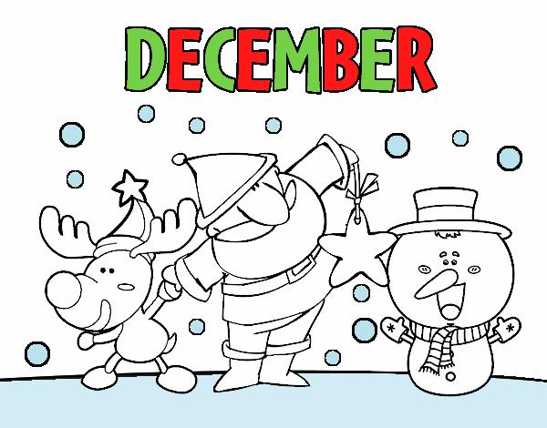 Coloring page December painted byAryanLove