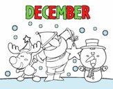 Coloring page December painted byAryanLove
