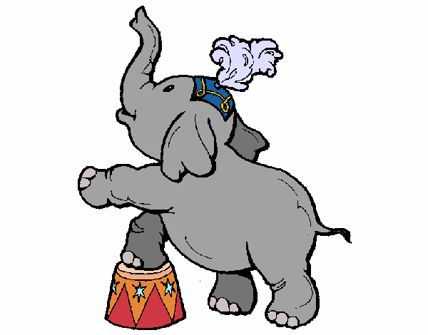 Coloring page Elephant painted byAnnanymas