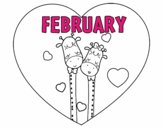 Coloring page February painted byAryanLove