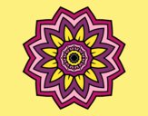 Flower mandala of sunflower